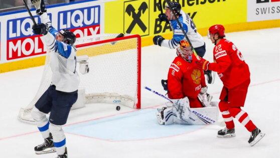 Сборная России проиграла сборной Финляндии в матче за выход в финал чемпионата мира