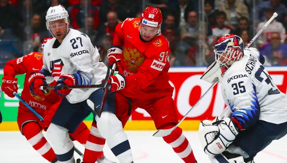 Российская сборная победила команду из США в четвертьфинале ЧМ по хоккею