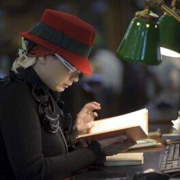 Ленинская библиотека, читательница