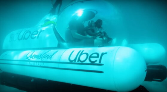 Uber объявил о запуске подводной лодки