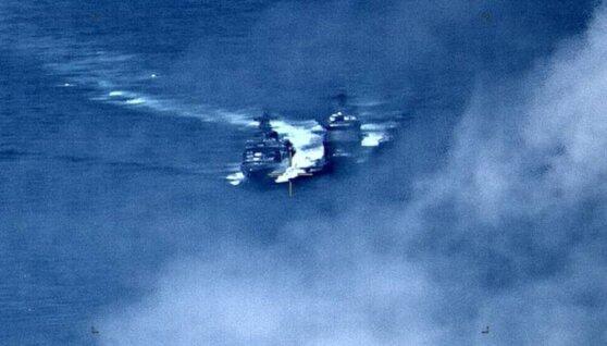 Инцидент с участием боевых кораблей России и США попал на видео