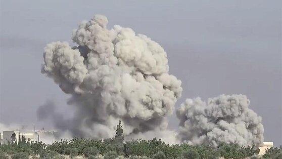 Мощный авиаудар ВКС России по боевикам в Сирии показали на видео