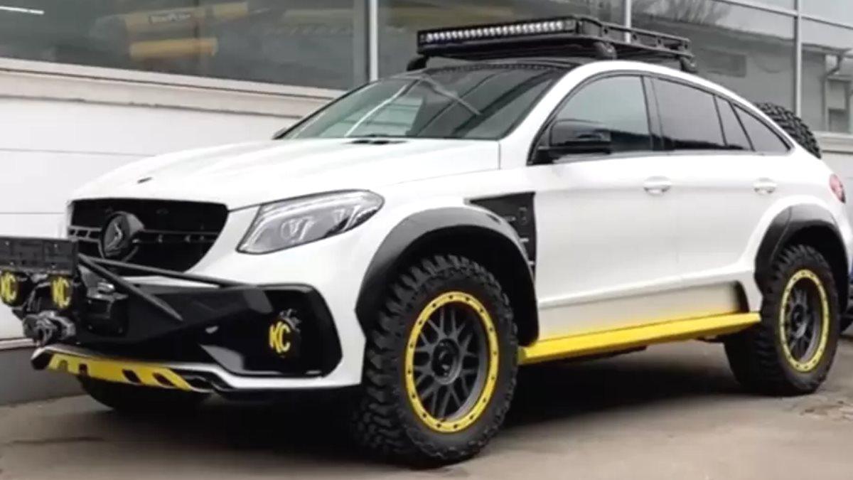 В России доработали Mercedes-Benz GLE для жесткого бездорожья