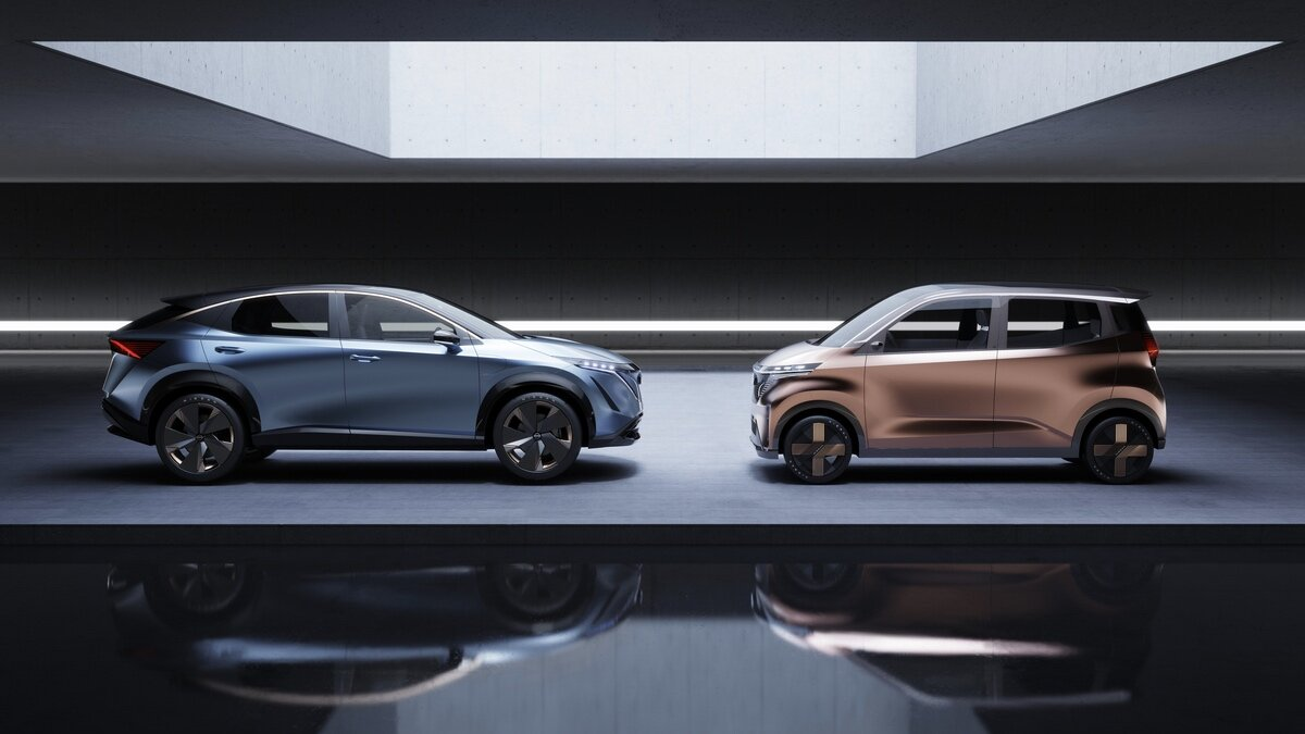 Концептуальные электромобили Nissan Ariya и Nissan IMk