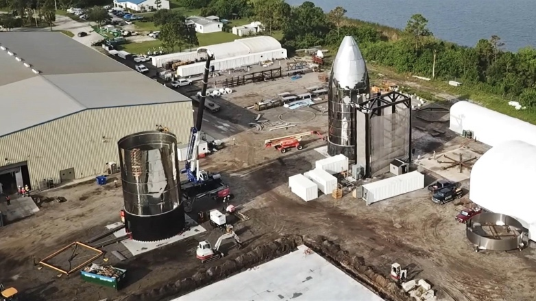 В сети появилось видео строительства корабля Starship SpaceX