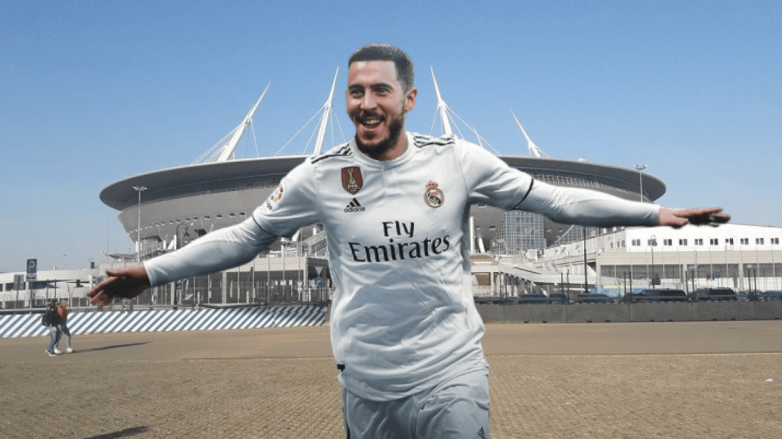 Азар оформил дубль в матче Россия – Бельгия