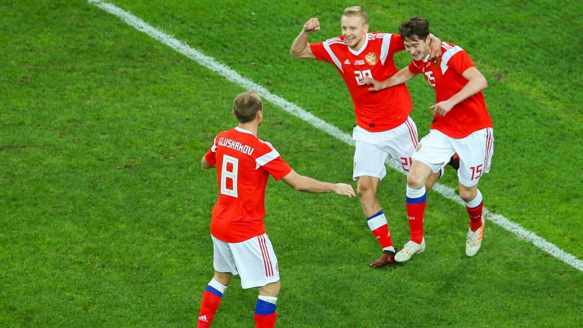 После первого тайма сборная России выигрывает у Сан-Марино