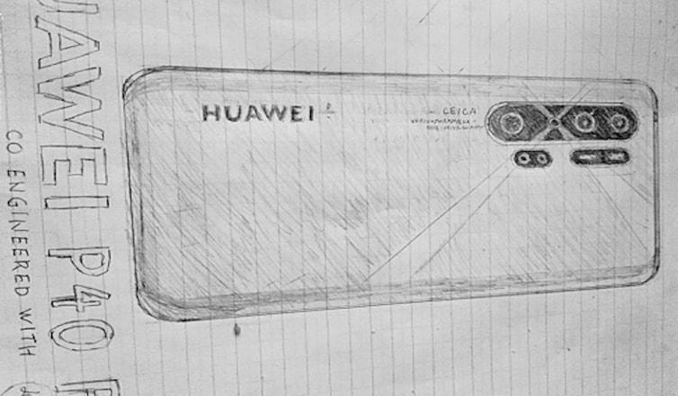 В сети появились новые рисунки Huawei P40 Pro