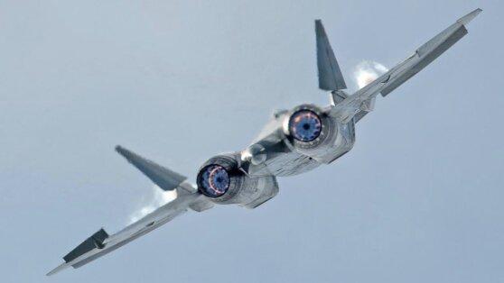 Полет истребителей Су-57 на предельных режимах сняли на видео