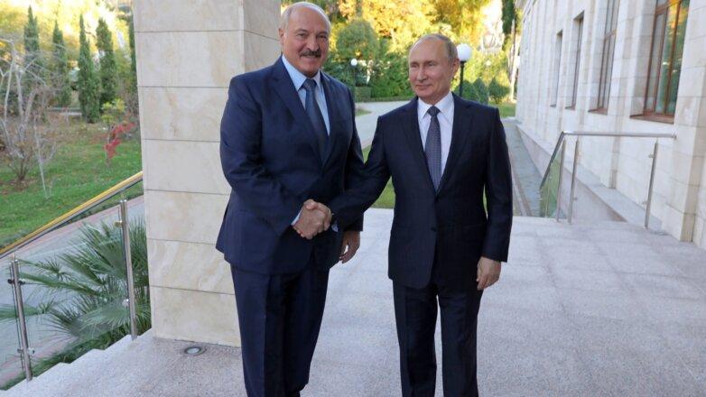 Александр Лукашенко и Владимир Путин переговоры в Сочи один