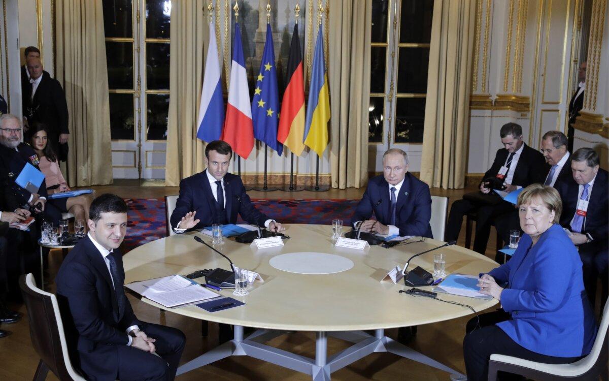 Путин остался доволен результатами саммита «нормандской четвёрки»