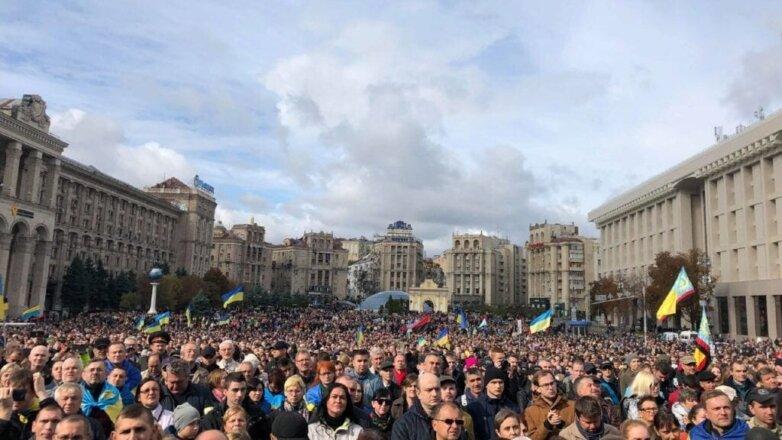В Киеве началась акция оппозиции перед саммитом «нормандской четверки»