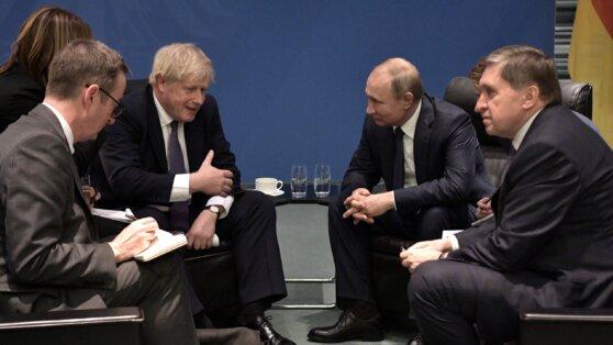 Кремль прокомментировал встречу Путина с Джонсоном в Берлине