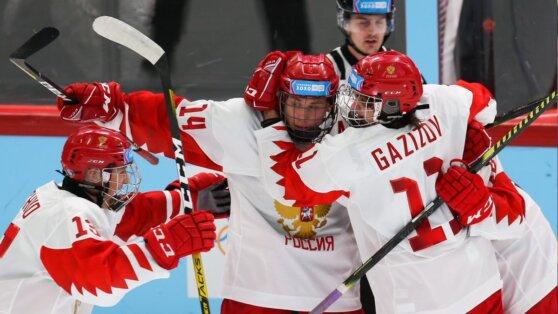 Сборная России по хоккею обыграла канадцев на юношеской Олимпиаде