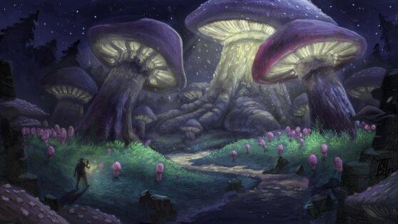 NASA предлагает построить лунную базу из грибов