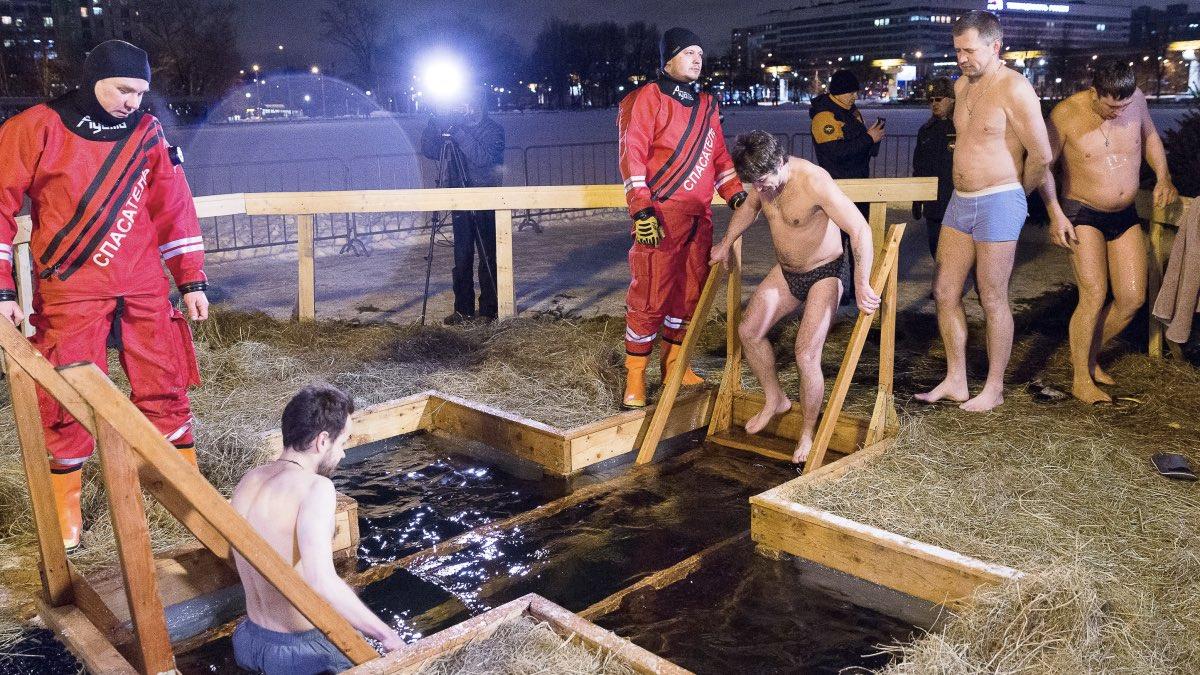 Аномальные морозы пообещали москвичам перед Крещением