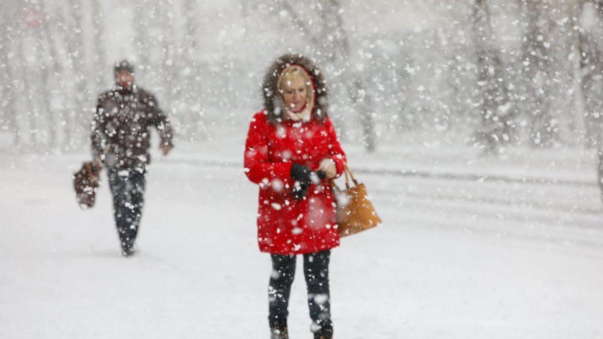Погода снегопад улица два