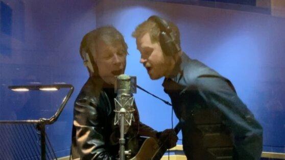 Принц Гарри записал песню с Джоном Бон Джови