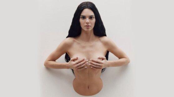 Кендалл Дженнер «застряла в стене» во время скандальной фотосессии