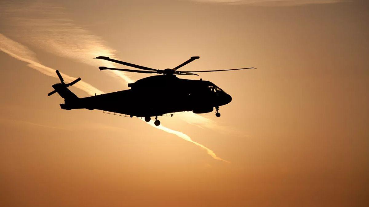 Силуэт вертолёта