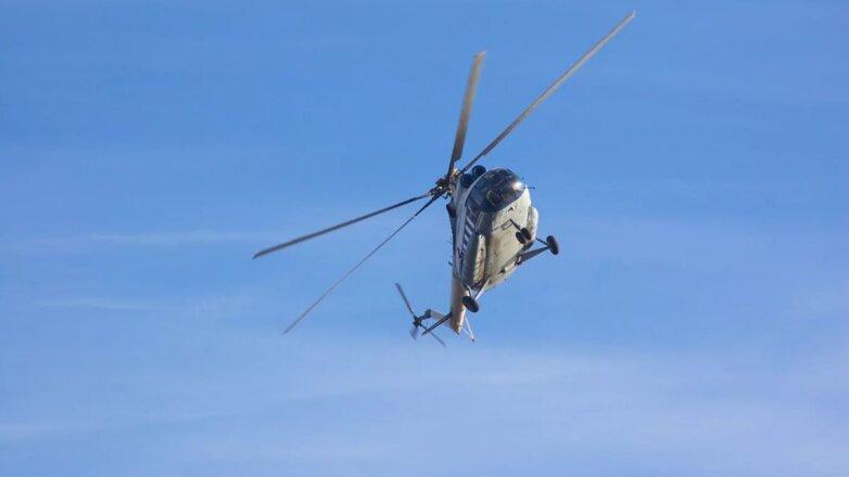Вертолёт Ми-8 крен