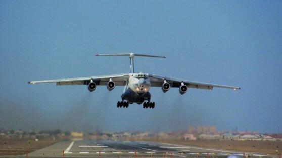 В Сербии приземлился первый российский Ил-76 с гуманитарной помощью