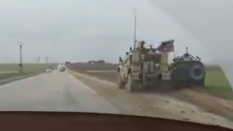 Опубликовано видео инцидента с бронемашинами США и России в Сирии