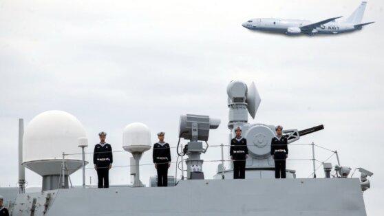 Эсминец КНР направил лазер на американский самолет-разведчик