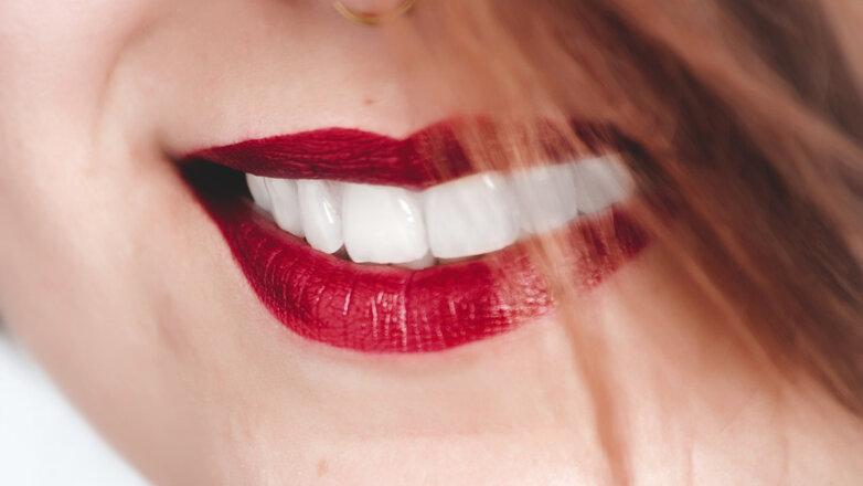 Зубы Губы Улыбка Красная помада