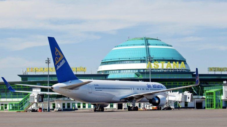 Астана аэропорт самолет Казахстан