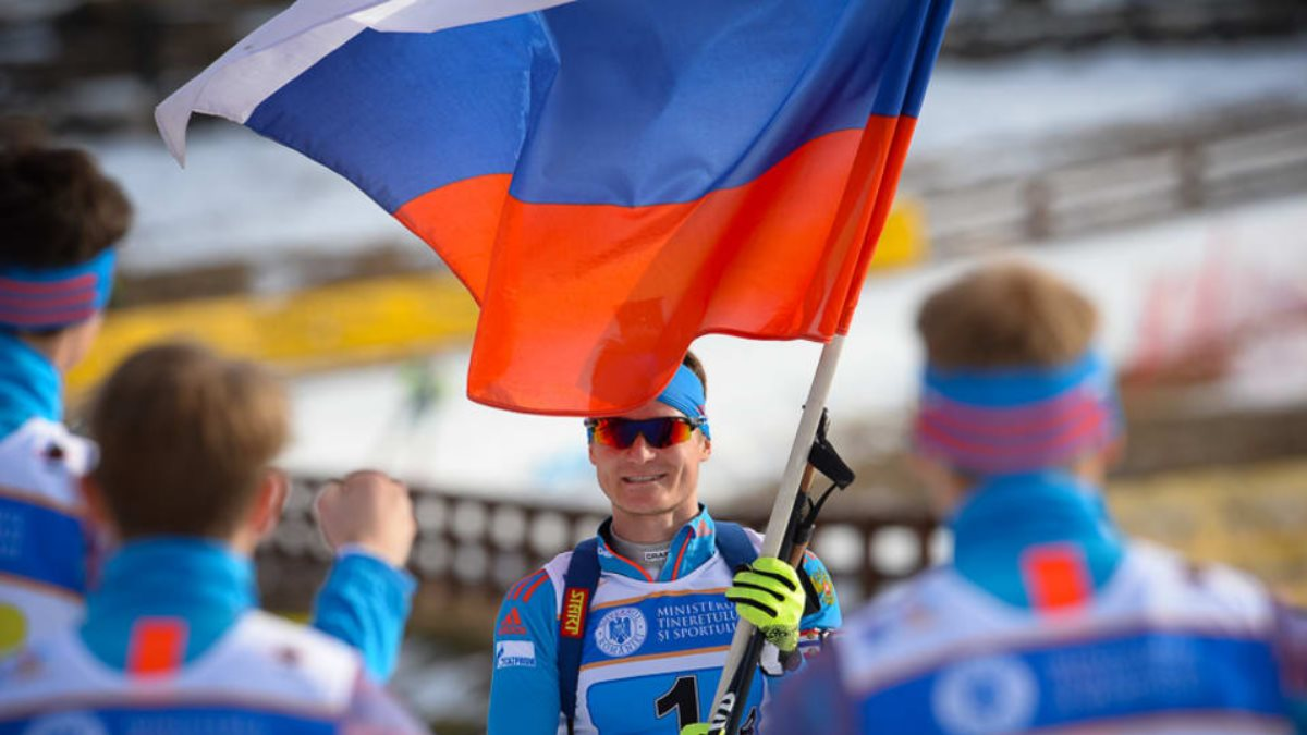 Биатлонист Кирилл Стрельцов