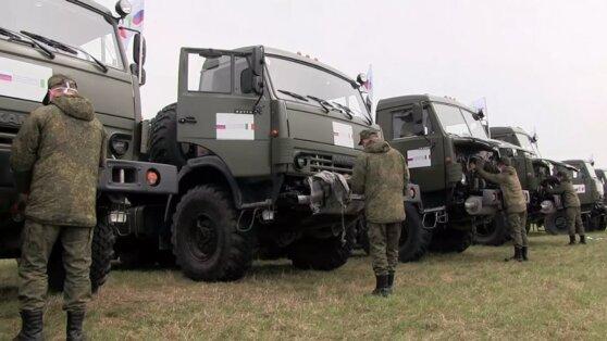 Российские военные приступили к дезинфекции в итальянском Бергамо