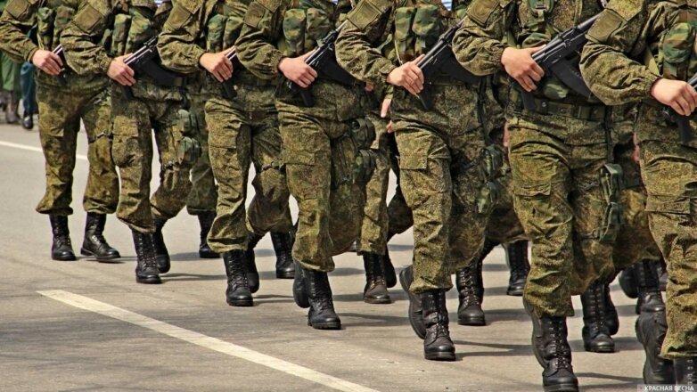 российские военные строй