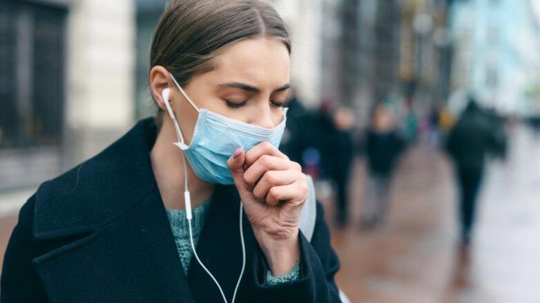 Медицинская маска кашель коронавирус