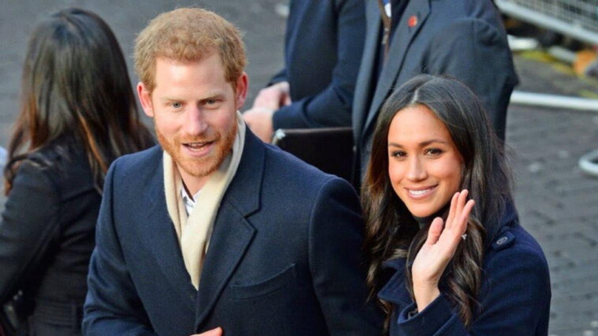 Принц Гарри и Меган Маркл на улице близко