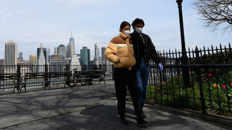 США Нью-Йорк коронавирус