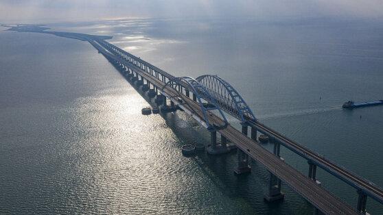 На Крымском мосту снизился транспортный поток