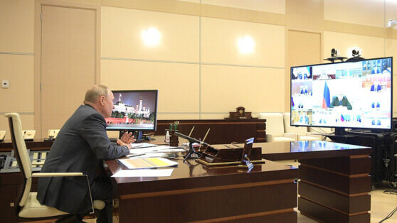 Путин провел дистанционное совещание по поводу ситуации с коронавирусом
