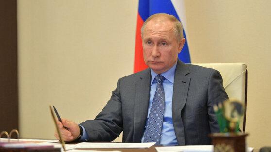 Онлайн-трансляция нового телеобращения Путина к россиянам 8 апреля
