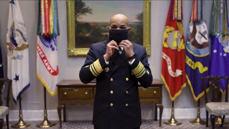 Генеральный хирург США Джером Адамс показал как сделать маску