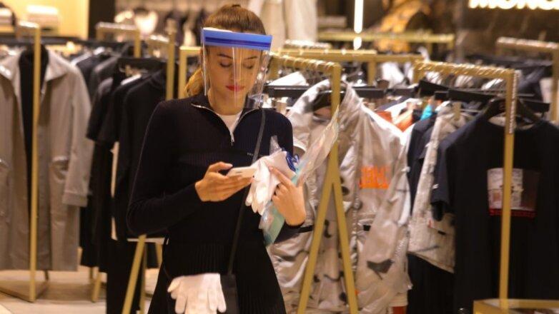Магазин одежды коронавирус