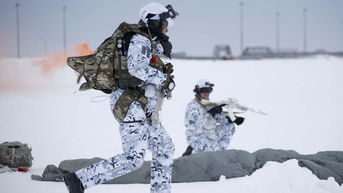 Российские десантники ВДВ в Арктике