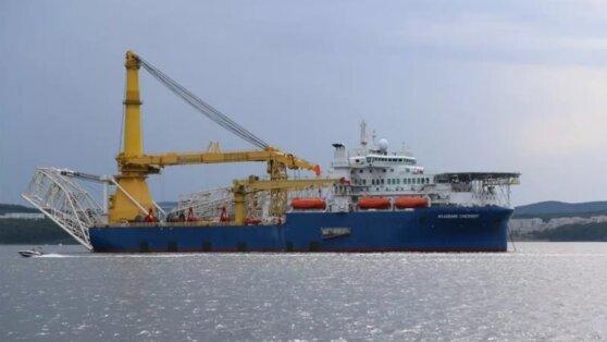 «Академик Черский» вернулся в немецкий порт Мукран