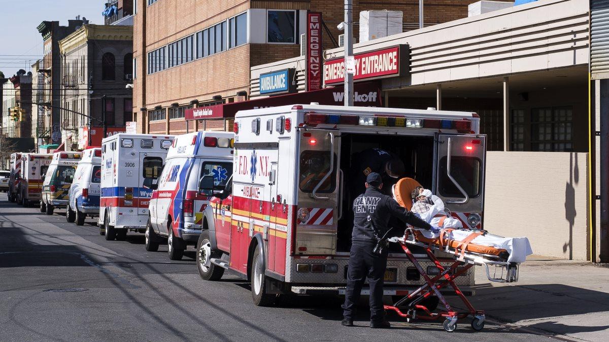 США коронавирус скорая помощь улица