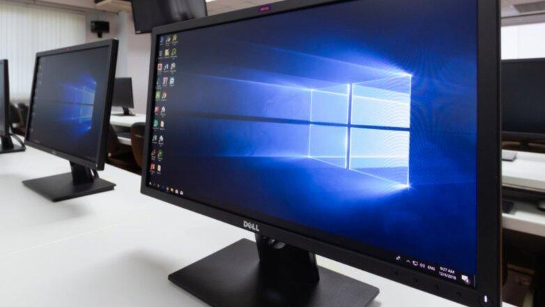 Windows 10 логотип монитор