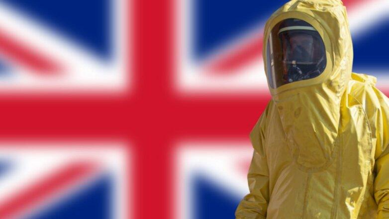 Британия коронавирус защитный костюм