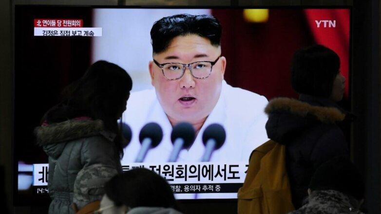 Лидер КНДР Ким Чен Ын телевизор
