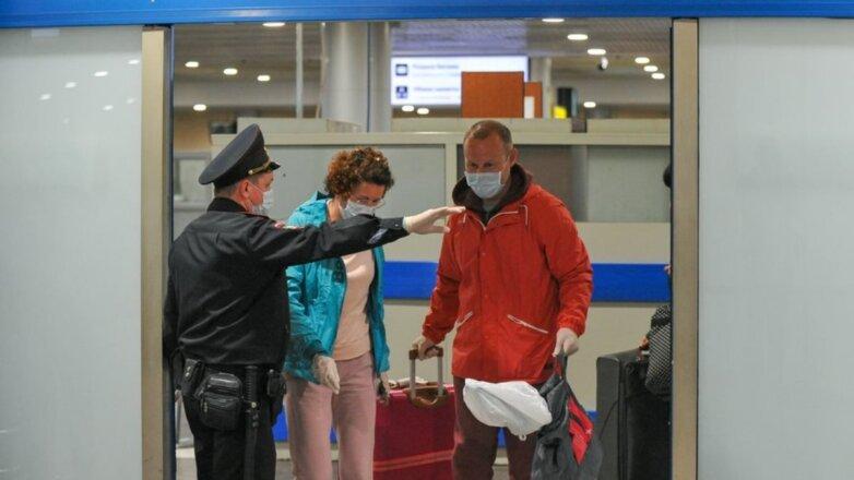 Россия Коронавирус аэропорт пассажиры прилёт контроль два