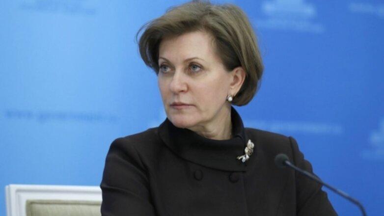 Глава Роспотребнадзора Анна Попова в чёрном