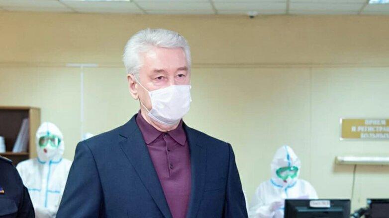 Мэр Москвы Сергей Собянин в маске коронавирус